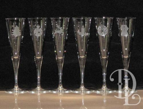 Glassware – Christmas Flutes