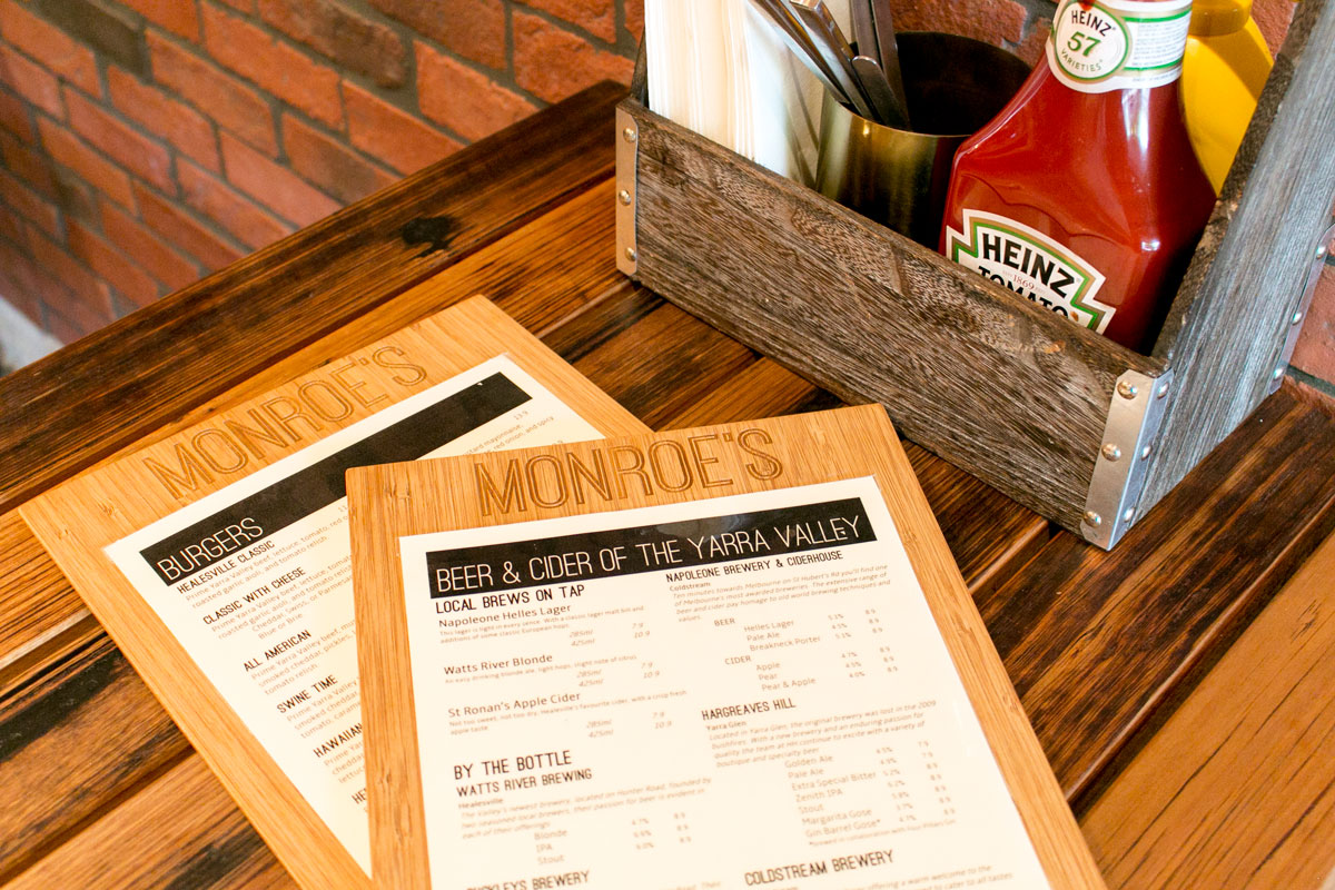 Bamboo menu boards suit many different venue styles.